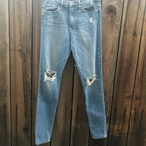 Flying monkey distressed skinny jeans, size 29